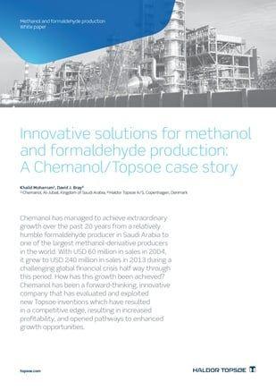 Khalid-Moharrum-David-j-Bray-methanol-formaldehyde-production-white-paper