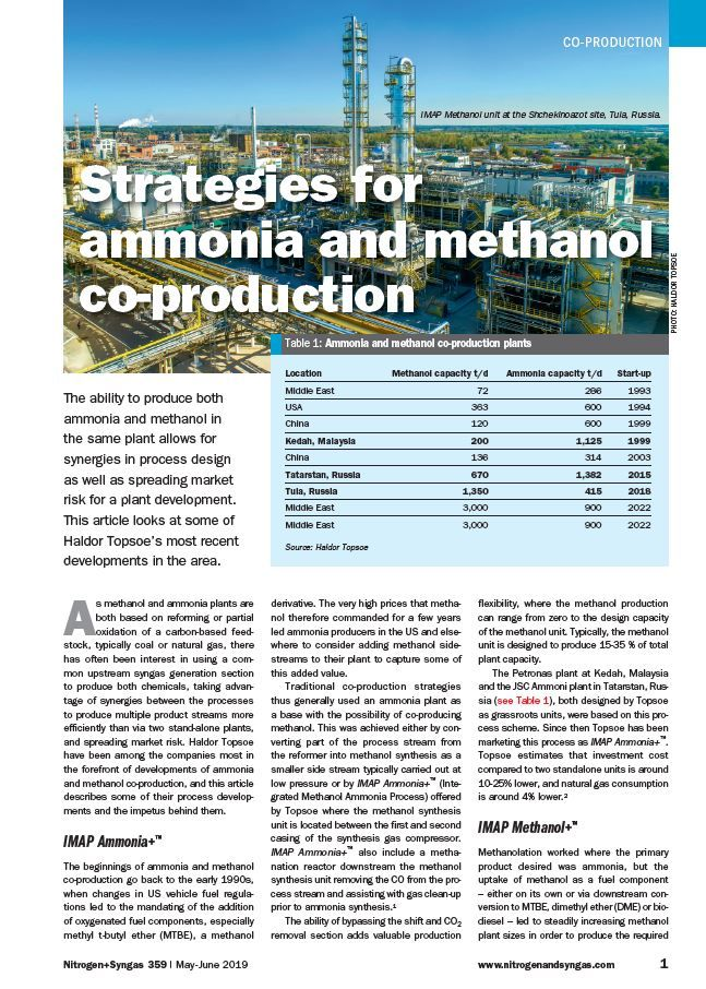 ammonia coproduction article